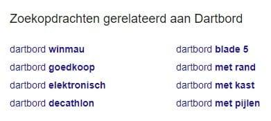 Google zoekopdrachten gerelateerd
