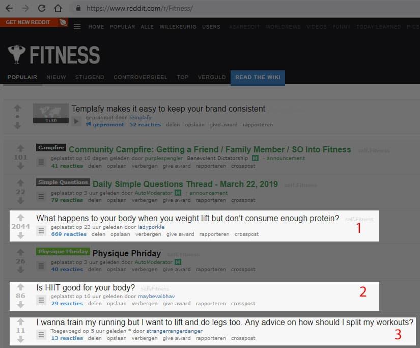 Reddit goed voor onderwerpen voor een blog