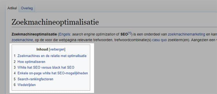 wikipedia voor blogonderwerpen
