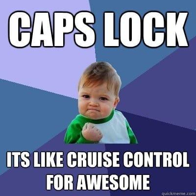 caps lock op buttons meme