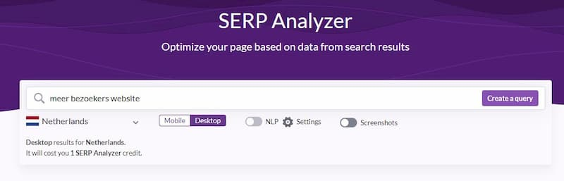 Serp Analyzer Surfer Seo Tool